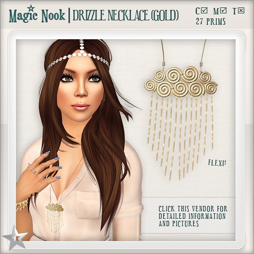 [MAGIC NOOK] Drizzle Necklace (Gold)