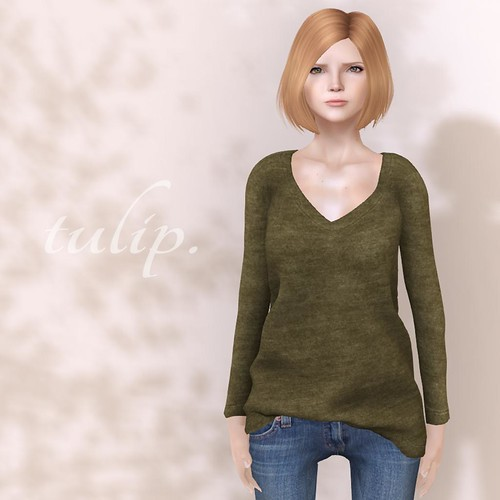 V-Neck Sweater - FLF by tulip.*Mina