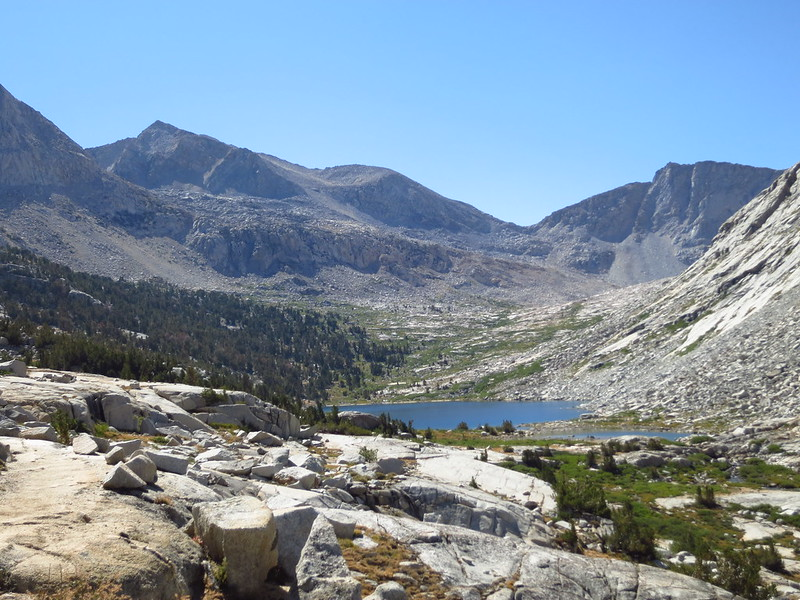 Upper Palisade Lake in Kings Canyon National Park from the JMT