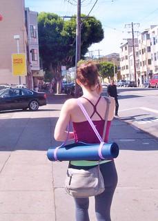 Yoga mat on 16th