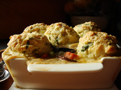 Turkey Herbs Biscuit Cobbler