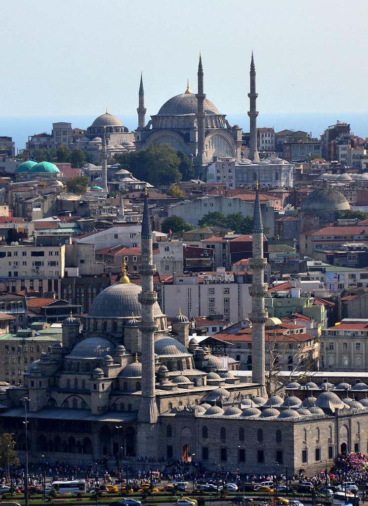 Mezquitas de Estambul desde la torre Galata
