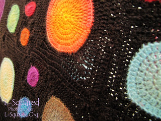 Close-up of some squares to show the stitch detail.