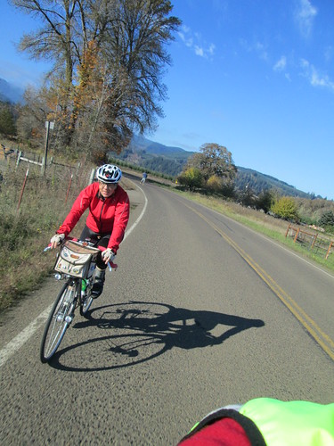 Lesli, headed out of Alsea