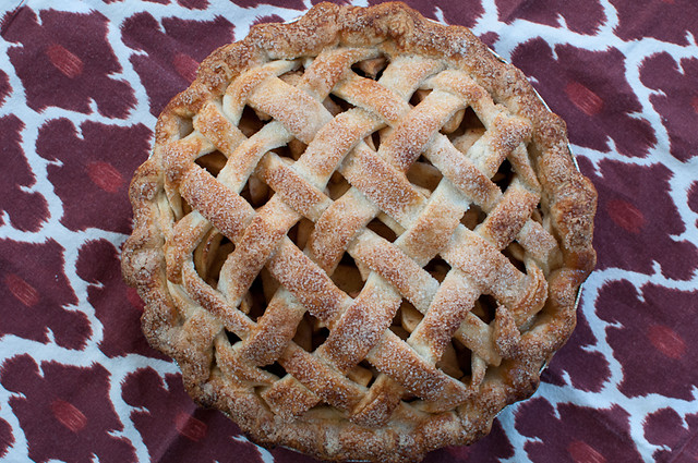 Sweet Lauren Apple Cinnamon Pie with Classic Lattice Crust