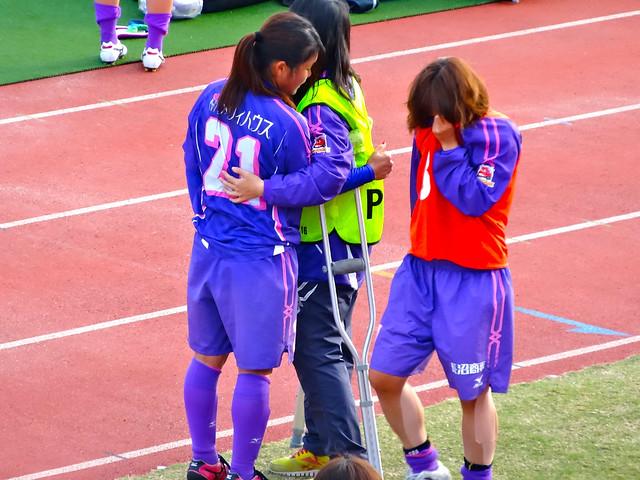 日本女子サッカーリーグ 2013チャレンジリーグ昇格チーム決定戦 アンジュヴィオレ広島 vs ASハリマ アルビオン 田中彩子 所侑加