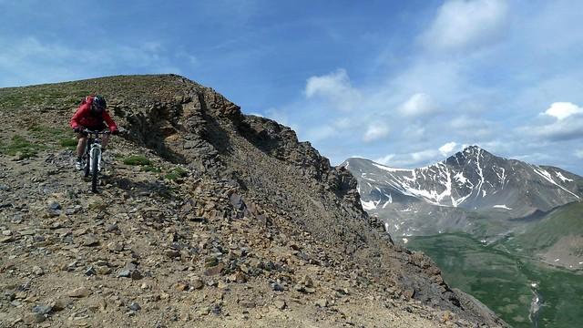 Descending McClellan Mtn
