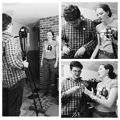 From last night - Adam and Olivia putting the final pieces together on their fundraising video for Blunt Youth Radio. They logged a lot of hours on this project. #unschooling #teens