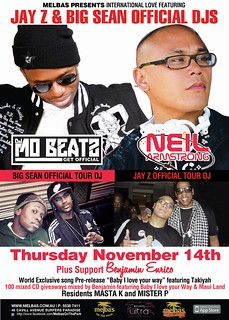 11/14 - TONITE- Thursday - DJ Mo Beatz (Big Sean) & Your's truly at Melba's GoldCoast