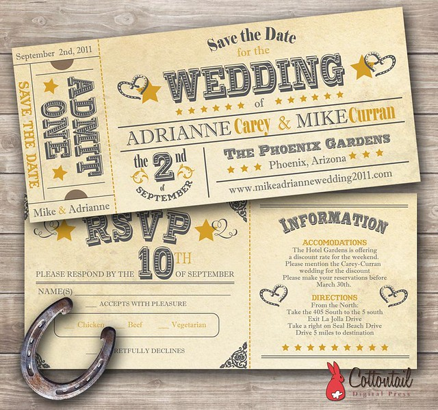 western wedding invitations country western invitation country western wedding 1263