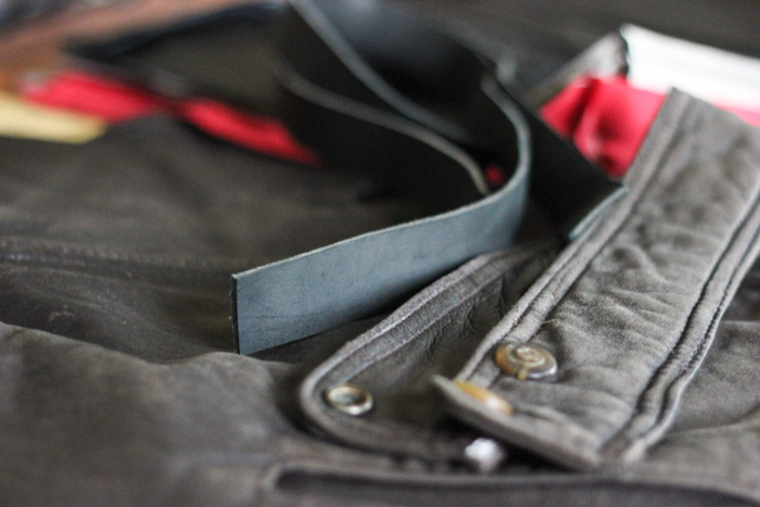 from the studio: leather projects