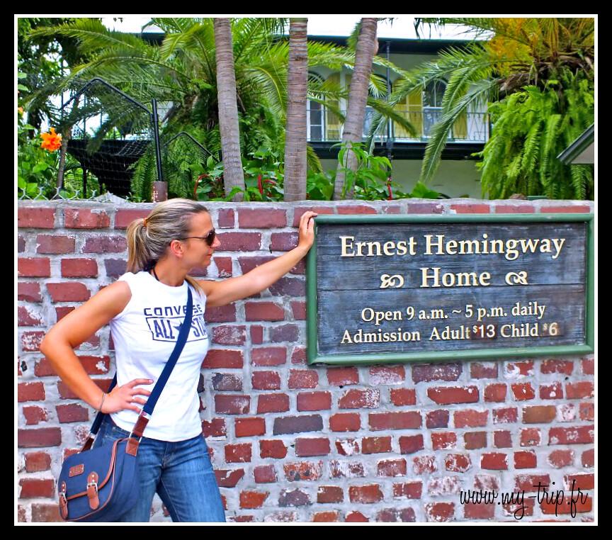 Visite de la maison d'Ernest Hemingway à Key West