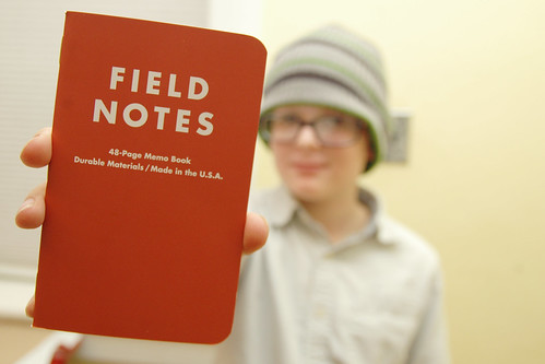 day 3432: odin scores his first field notes notebook! IV.