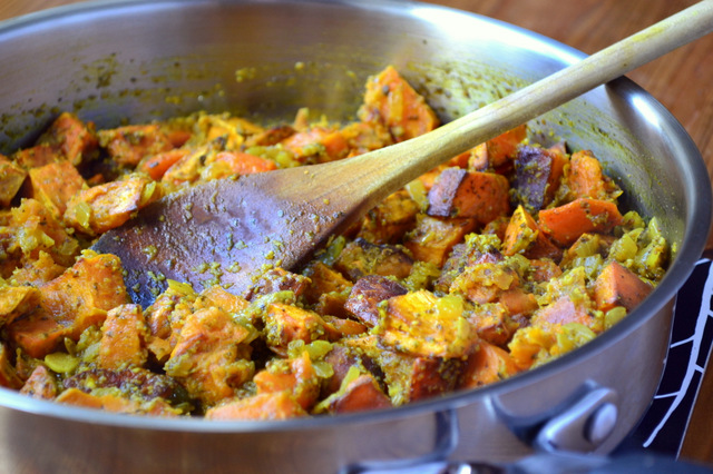 Sweet Potato and Almond Curry Recipe