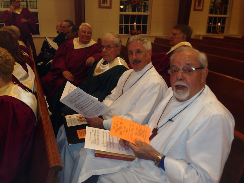 Joining in the ecumenical choir on Thanksgiving Eve.