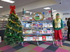 Christmas display at Central Library Peterborough