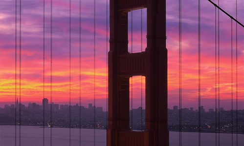 Golden Gate Bridge Widescreen Color Dawn