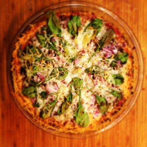 Gluten free dairy free deep dish pizza pie