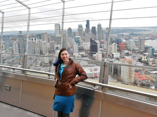 Clare Up High on the Space Needle
