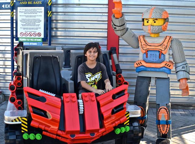 Legoland, Florida - getting ready for the coaster ride