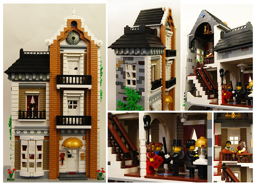 Lego Music Teacher's Town House - Collage