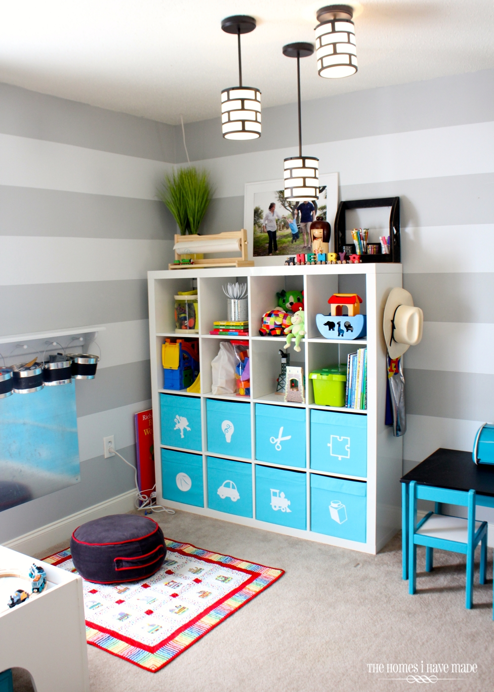 Toy storage in an ikea expedit the homes i have made - Habitaciones de ikea ...