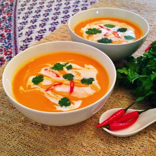Thai pumpkin and Kumara soup