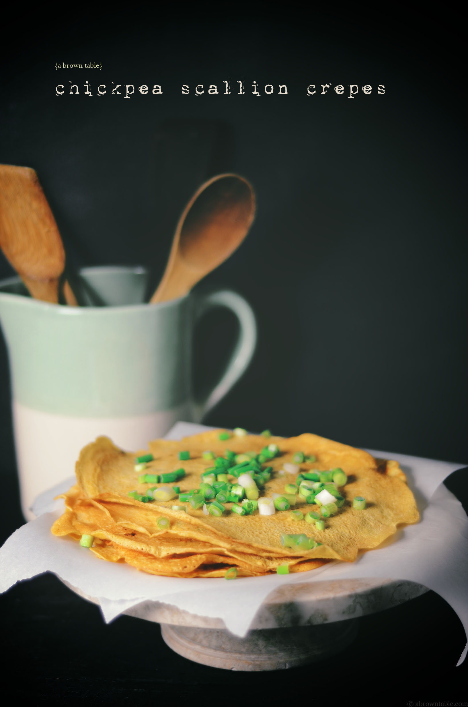 spicy chickpea scallion crepes