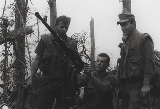Marines Inspect a North Vietnamese Antiaircraft Gun, 1969