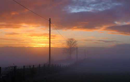 Stirlingshire in the mist by Mike Bolam