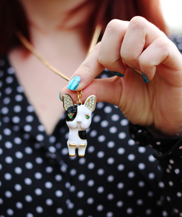 Boston Terrier Necklace from Forever 21