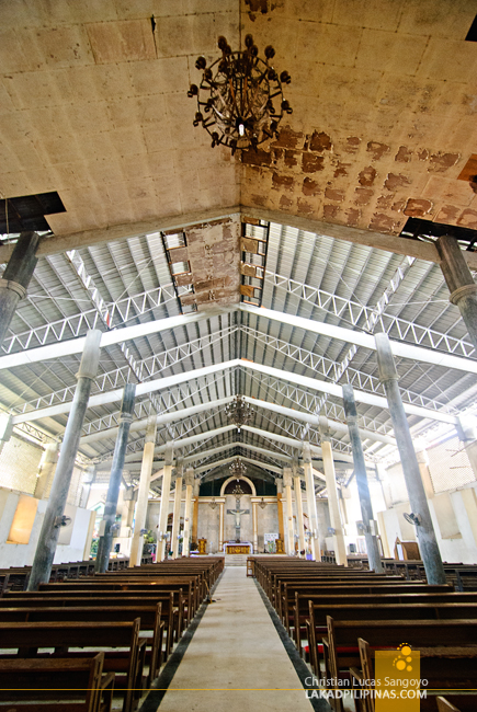 Spartan Interior of St. Catherine Church in Mambusao, Capiz