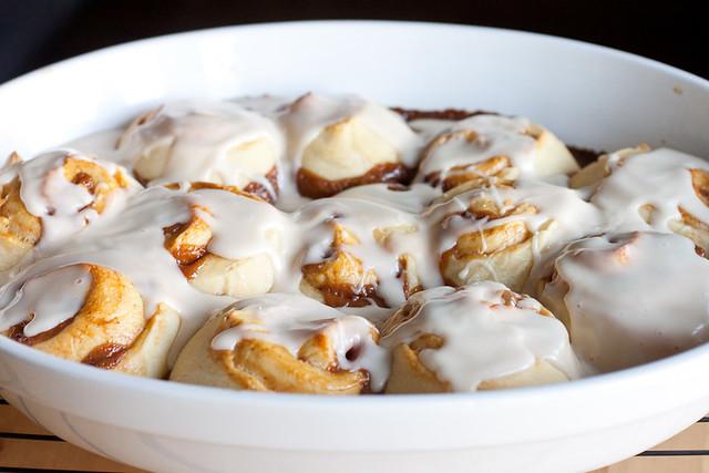 Dulce de Leche Overnight Cinnamon Rolls