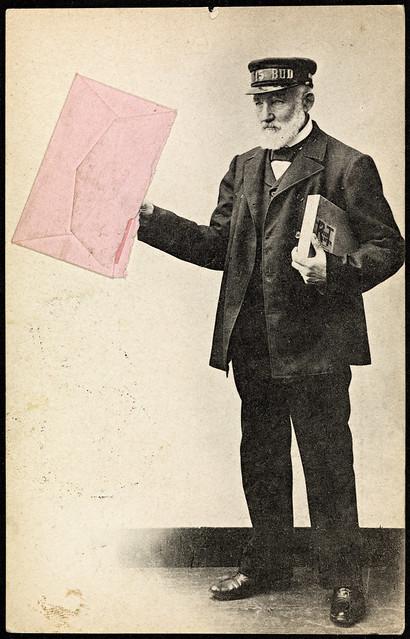 Postmann med rosa brev