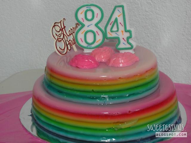 rainbow agar agar cake