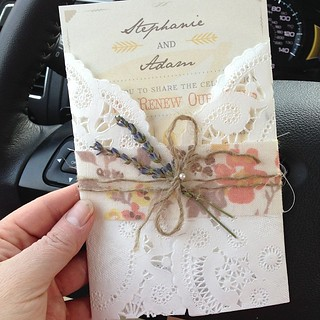 The prettiest and best smelling :) wedding invitation I have ever seen... For my daughter's wedding... *sniff*