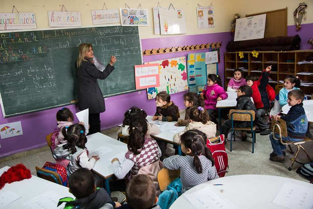 UNHCR News Story: Second shift schools offer hope to young Syrians
