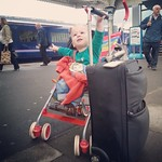 Waiting for the train to London