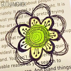 Paperkrafts: doodled paper pieces flowers  - step by step layering 3