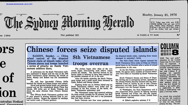 Chinese Forces Seize Disputed Islands - The Sydney Morning Herald - Jan 21, 1974