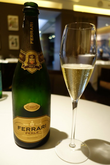 Ferrari Perle 2007 Sparkling Wine at Gaia Ristorante & Bar, Goodwood Park Hotel
