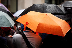 Gay pride _ Orange umbrella