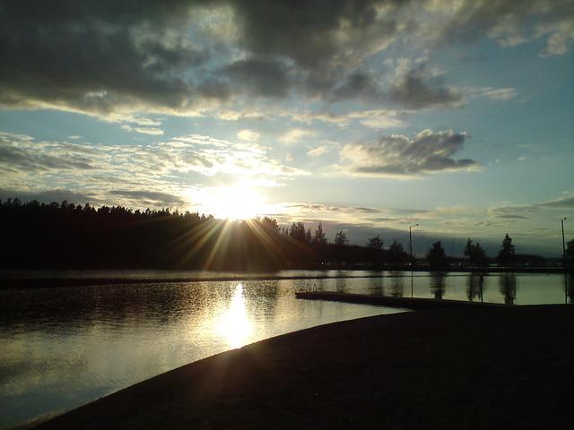 Озеро и солнце // Lake and the sun