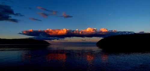 sunset clouds scotland highlands cromarty sutor gloaming