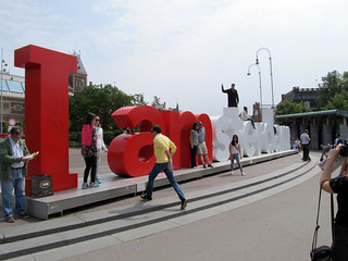 Imagen de I amsterdam. park monument netherlands amsterdam museumplein words spring letters 2014