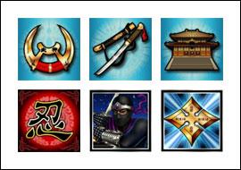 free Ninja Star slot game symbols
