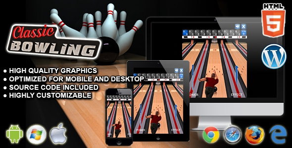 Classic Bowling – HTML5 Sport Game