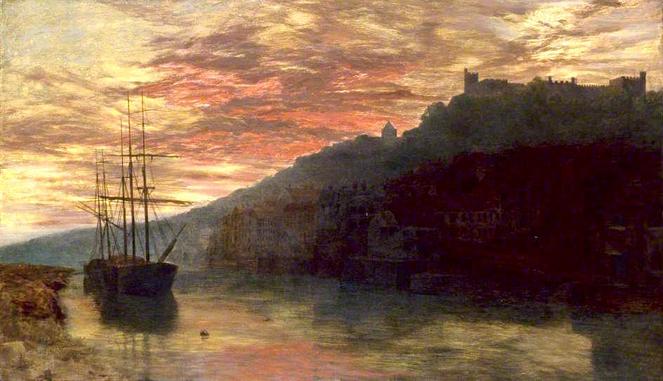 Arundel, West Sussex, at Sunset by George Vicat Cole - 1872