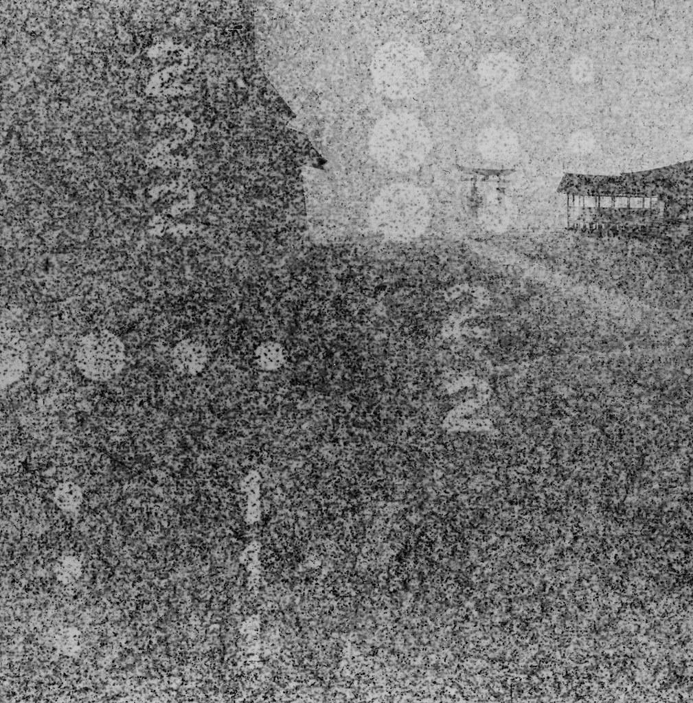 嚴島神社 Hiroshima, Japan / Lomography BW Expired / Lomo LC-A+ 120 過期底片會把底片卷上的字樣印上去,拍出來的影像有一種很像是用針孔攝影投影出來的感覺。  隱隱約約可以看到這是在廣島的嚴島神社拍的,那天是陰天,一直下雨下個不停,我背包裡的 MacBook Pro 還因此泡水當機!  Lomo LC-A 120 Lomography Black and White Negative 100 ISO 120mm 6678-0001 2016/09/25 Photo by Toomore
