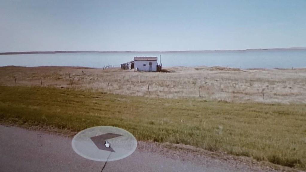 Little hut on Reed Lake, #Saskatchewan #ridingthroughwalls #xcanadabikeride #googlestreetview